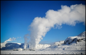 Hellisheidi-Geothermal-Plant-Steam-Winter